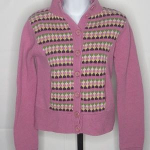 Ted Baker Wool Mock Neck Cardigan 1 or US 4 Small